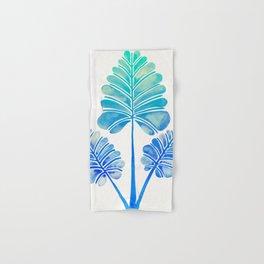 Tropical Palm Leaf Trifecta – Blue Ombré Palette Hand & Bath Towel