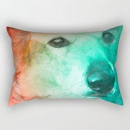 Loveable Dog Pets Rectangular Pillow