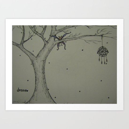 Dreaming Bunny Art Print