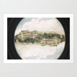fisheye Art Print