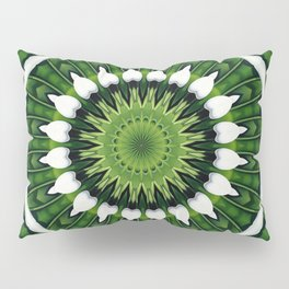 Tropical Green Mandala Pillow Sham