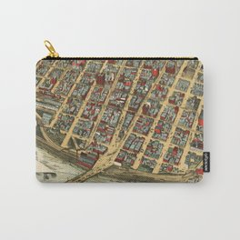 Vintage Pictorial Map of Minneapolis MN (1891) Carry-All Pouch