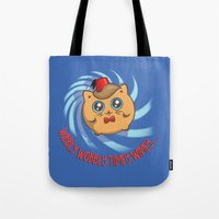 mew Tote Bags featuring Doctor Mew by Helenasia
