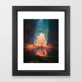 ILLUMINATED PATH (everyday 07.06.17) Framed Art Print
