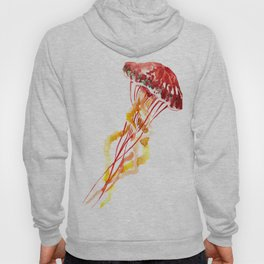Jellyfish, Red, orange, Yellow design Hoodie