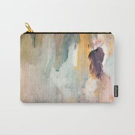 Gentle Beauty - an elegant acrylic piece in deep purple, red, gold, and white Carry-All Pouch