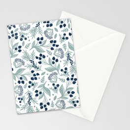PAINTED WILD BERRIES ON A WHITE BACKGROUND Stationery Cards