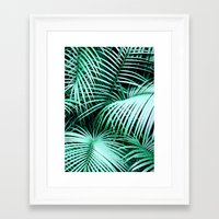palms Framed Art Prints featuring Palms by Karen Hofstetter