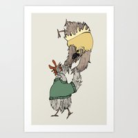 grease Art Prints featuring Grease chicks by Ilse Busschers