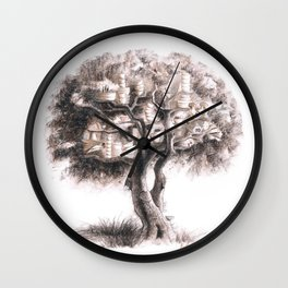 Tea tree Wall Clock