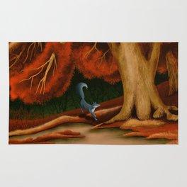Blue Fox at The Dark Pool of Malkkaard Rug