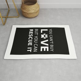 Animal rescue love Rug