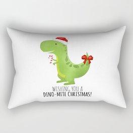 Wishing You A Dino-Mite Christmas Rectangular Pillow