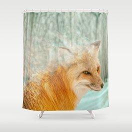 Spirit Fox Shower Curtain
