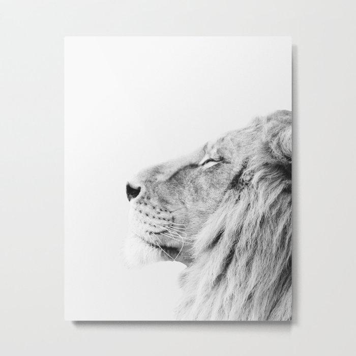 Lion print Metal Print