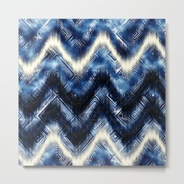 INDIGO WASH Metal Print
