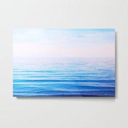 sea white&blue Metal Print