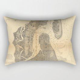 Vintage Map of St Augustine Harbor (1862) Rectangular Pillow