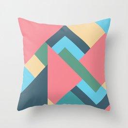 Mid Century Pastel Throw Pillow