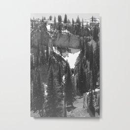 uphill / trees Metal Print