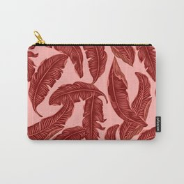 Banana leaves tropical leaves orange Carry-All Pouch