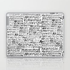 Ink Alphabet Laptop & iPad Skin