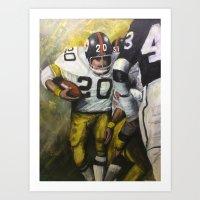 steelers Art Prints featuring Rocky by Genest Hockey Art