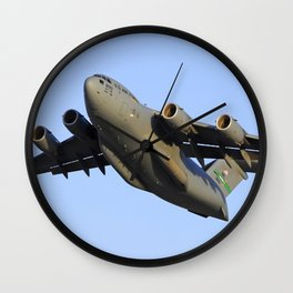 C-17 Globemaster Aviation USAF Take Off Wall Clock