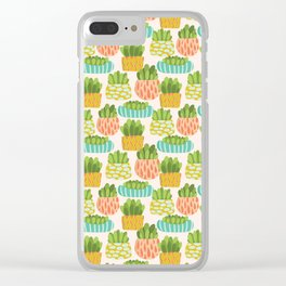 Happy Succulents Clear iPhone Case