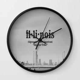 Illinois Definition Wall Clock