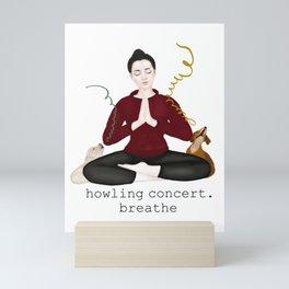 howling concert. breathe Mini Art Print