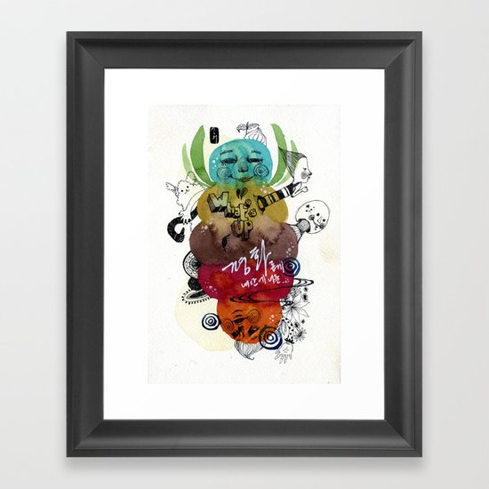 What'suppp  Framed Art Print