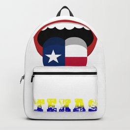 Electoral vote of texas abstract mouth Backpack