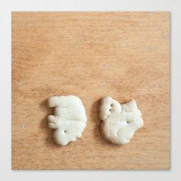 Animal Crackers - wood2 Canvas Print