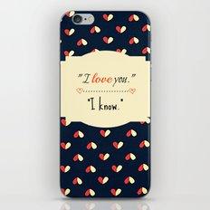 I Know iPhone & iPod Skin