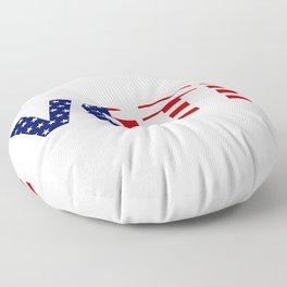 Vote American Flag Red White and Blue Typography Floor Pillow