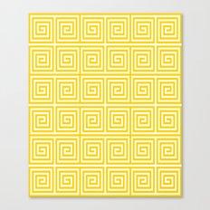 Acropolis 1 Yellow Canvas Print