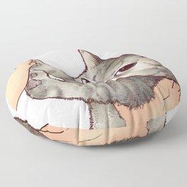 cat : hmmmmm! Floor Pillow