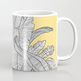 Banana Leaves Illustration - Yellow Coffee Mug
