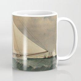 Vintage Boston Yacht - Puritan - Illustration (1885) Coffee Mug
