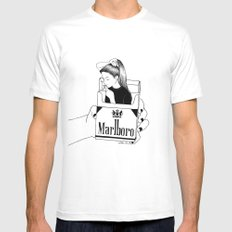 Smoke SMALL Mens Fitted Tee White