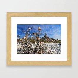 Sitting Seaside Framed Art Print