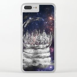 Magical Winter Snow globe Clear iPhone Case