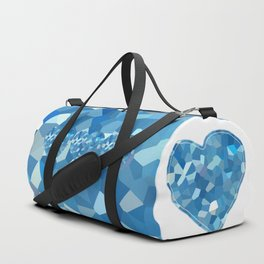Aqua Heart Duffle Bag