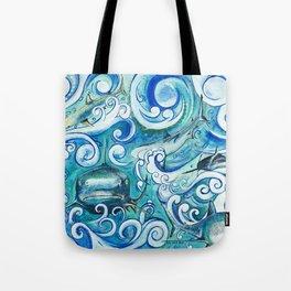 Shark wave Tote Bag