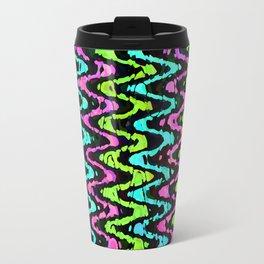 Wavy Neon Travel Mug