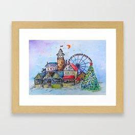 CHRISTMAS MARKET Framed Art Print