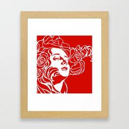 """Koloman (Kolo) Moser """"Girl's head"""" (3) Framed Art Print"""
