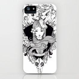 calavera lady iPhone Case