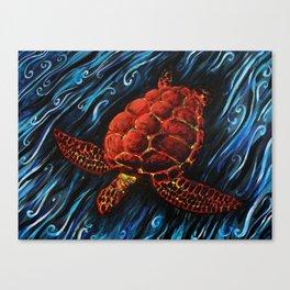 Sea Turtle, Spirit Animal Print Canvas Print